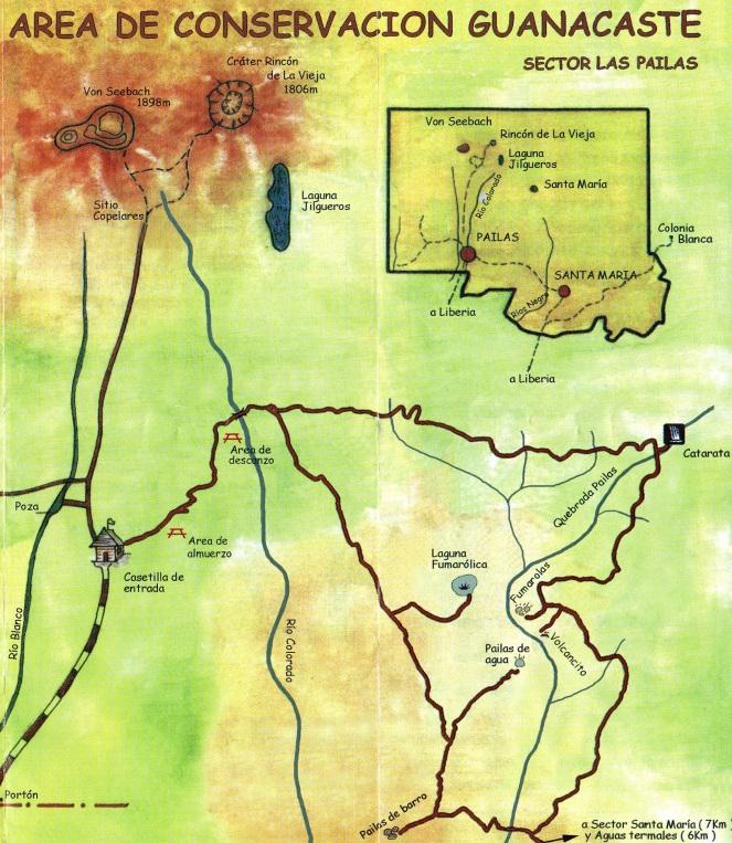 PN Rincon de la Vieja Map