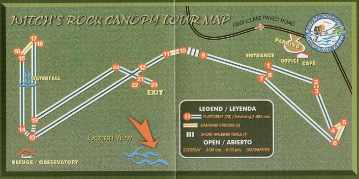 Witch's Rock Canopy Tour Map