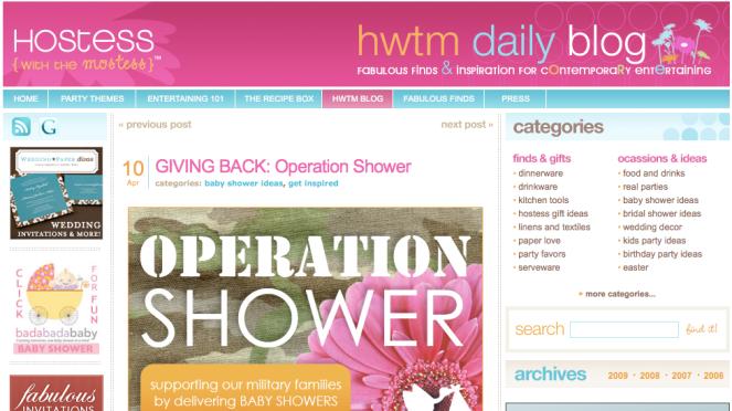 HWTM Operation Shower