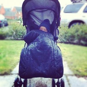 Rainy Stroller Nap