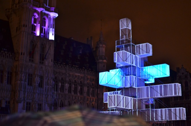 Grand Place XMas Tree Lit