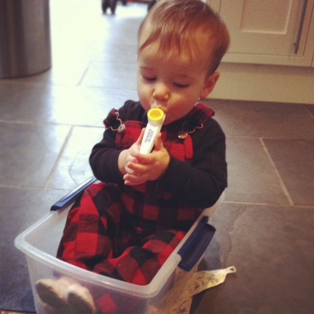 Baby Plays Kazoo in a Box