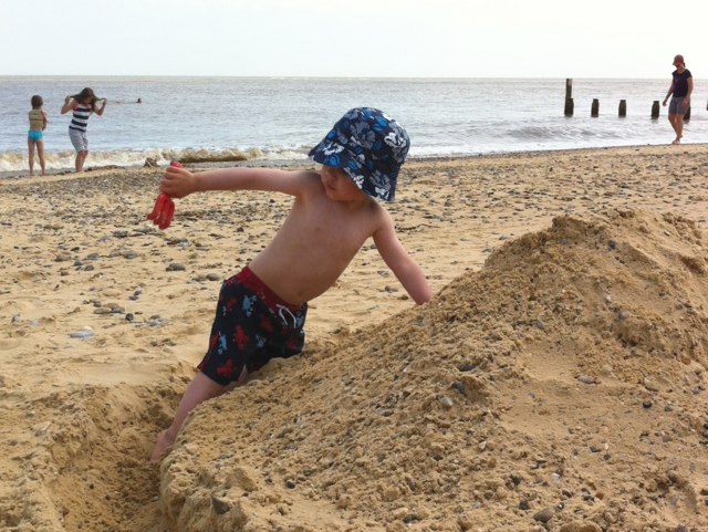 Toddler in Sand