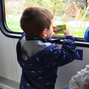 Boy with Train Ticket