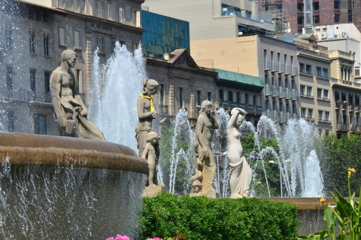 Placa Catalunya Fountain