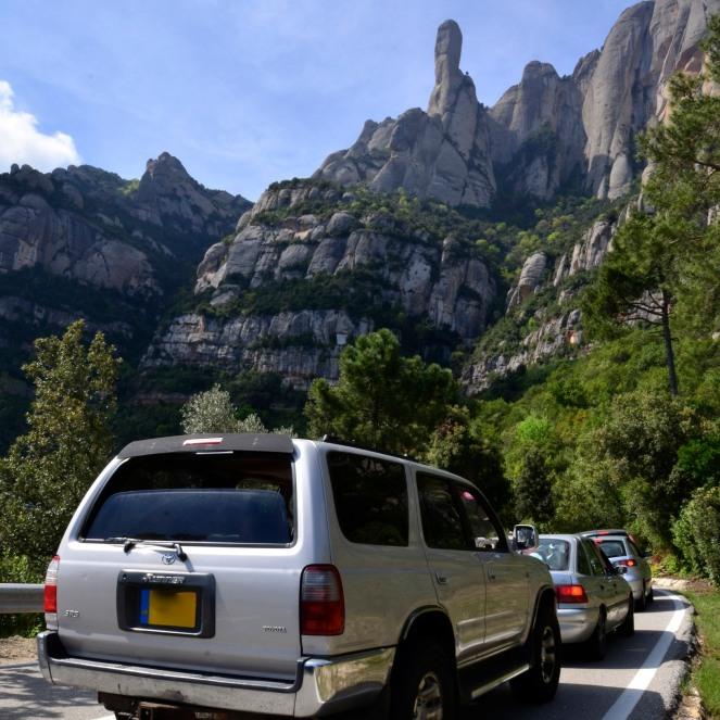 Driving to Montserrat