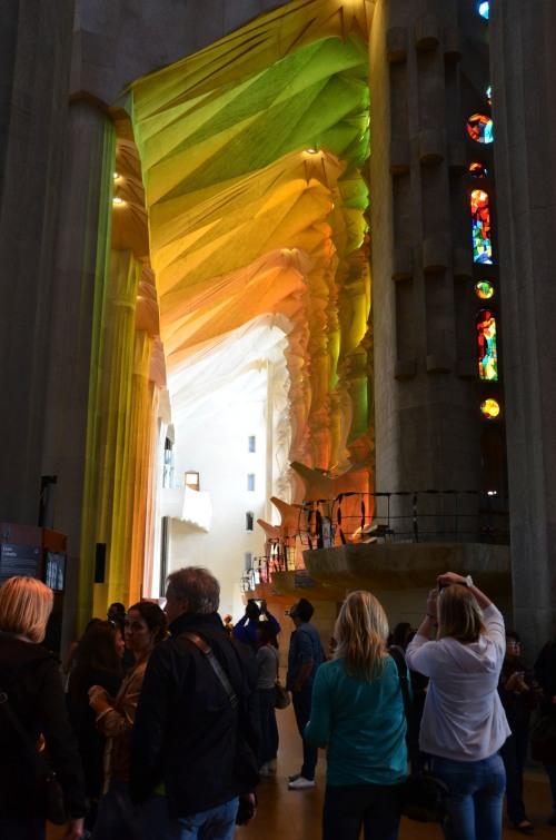 La Sagrada Familia Stained Glass Light