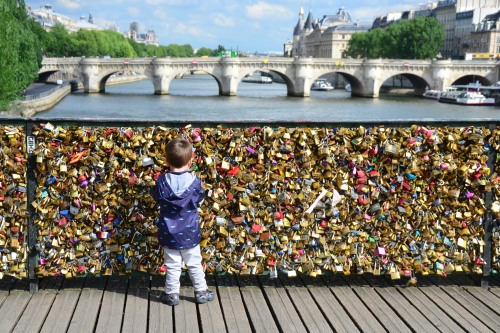 Paris Love Locks Pont des Arts Bridge