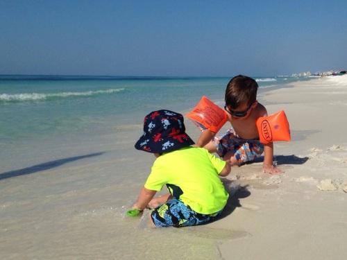 Boys in Sand