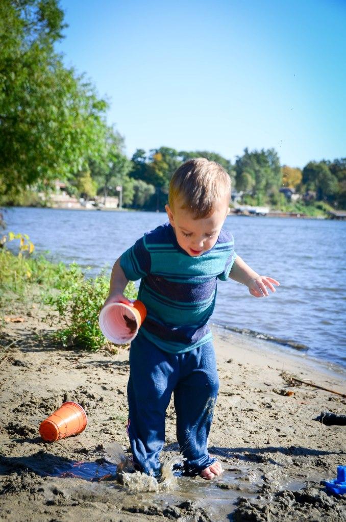 Toddler Splashing