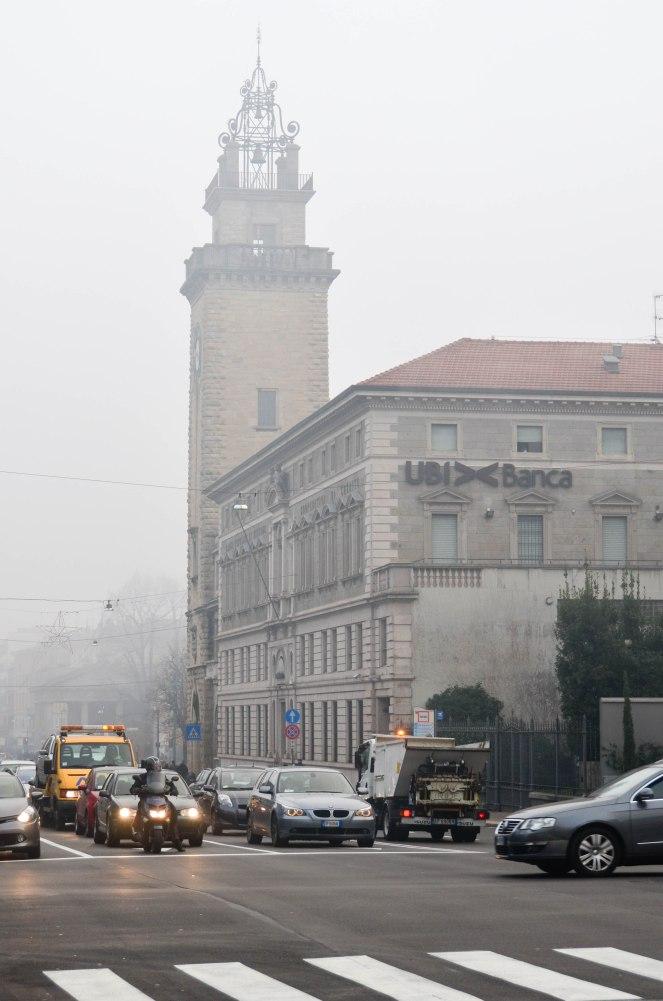 Bergamo in Fog